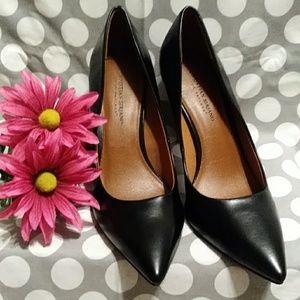 New Black Stiletto Pointy Heels Size 12